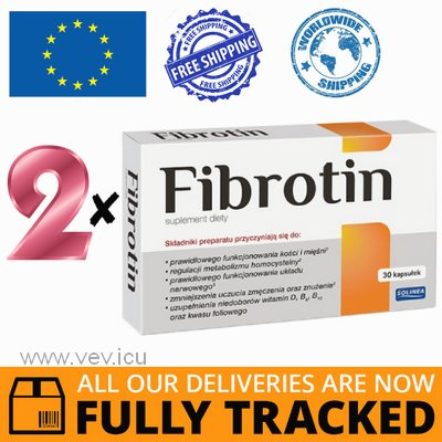 2 x FIBROTIN 30 CAPS - MADE IN POLAND - FREE SHIPPING