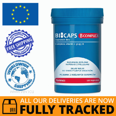 BIOCAPS B COMPLEX 120 CAPS - MADE IN POLAND - FREE SHIPPING