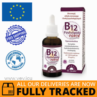 VITAMIN B12 PHOSPHOLIPIDS FORTE 50ML - MADE IN POLAND - FREE SHIPPING