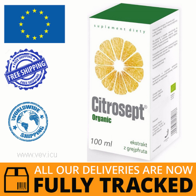 CITROSEPT ORGANIC DROPS 100ML - MADE IN POLAND- FREE SHIPPING