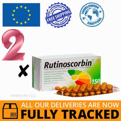 2 x RUTINOSCORBIN 150 TABS — MADE IN POLAND — FREE SHIPPING