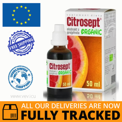 CITROSEPT ORGANIC DROPS 50ML - MADE IN POLAND- FREE SHIPPING