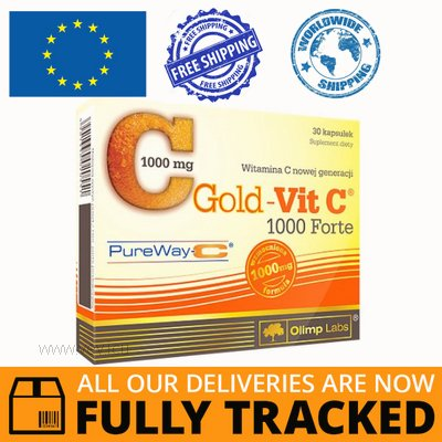 GOLD-VIT C 1000 FORTE 30 CAPS — MADE IN POLAND — FREE SHIPPING