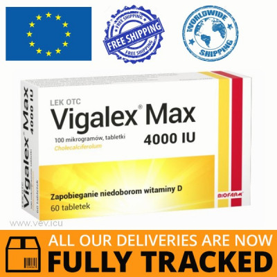 VIGALEX MAX 4000IU 60 TABS — MADE IN POLAND — FREE SHIPPING