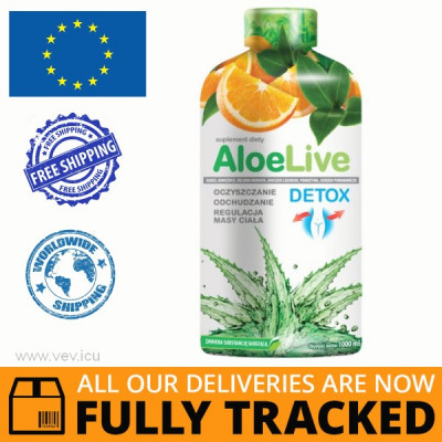 ALOELIVE DETOX, CLEANSING ALOE JUICE 1L - MADE IN POLAND - FREE SHIPPING