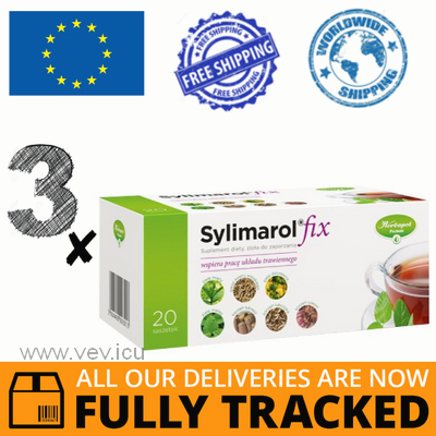 3 x SYLIMAROL FIX 20 SACHETS - MADE IN POLAND - FREE SHIPPING
