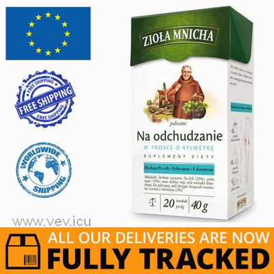 HERBS MNICHA - TEA FOR WEIGHT LOSS 20 SACHETS - MADE IN POLAND - FREE SHIPPING