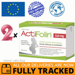2 x ACTIFOLIN 0,8 MG 30 TABS - MADE IN POLAND - FREE SHIPPING