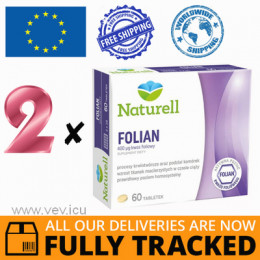 2 x NATURELL FOLIAN 60 TABS - MADE IN POLAND - FREE SHIPPING