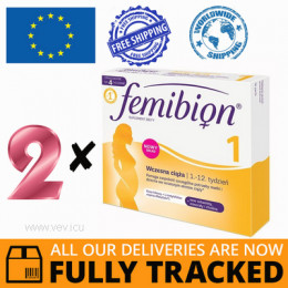 2 x FEMIBION 1 EARLY PREGNANCY 28 TABS- MADE IN GERMANY- FREE SHIPPING