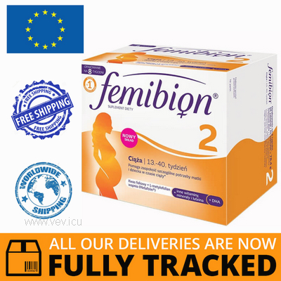 FEMIBION 2 PREGNANCY 56 TABS + 56 CAPS- MADE IN GERMANY- FREE SHIPPING