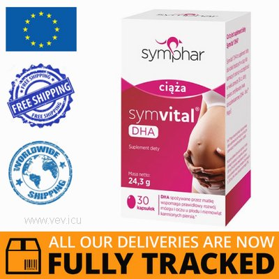 SYMVITAL DHA 30 CAPS - MADE IN POLAND - FREE SHIPPING