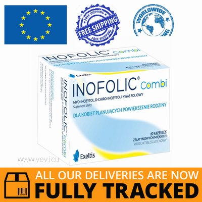 INOFOLIC COMBI 60 CAPS - MADE IN SPAIN - FREE SHIPPING