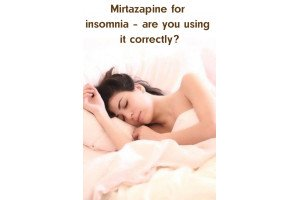 Mirtazapine for insomnia – are you using it correctly?